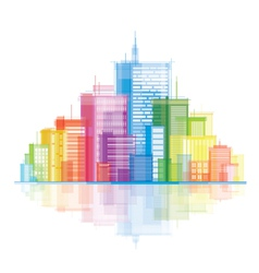 Colorful panorama city vector image vector image
