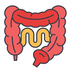 Intestines concept line icon editable vector
