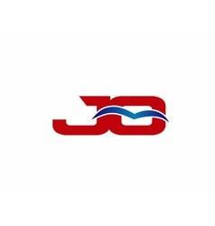 Jq logo graphic branding letter element vector