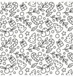 Hand Drawn Winter Season Seamless Pattern vector image vector image