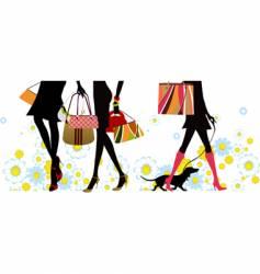 summer shopping vector image