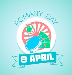 8 April Romany day vector