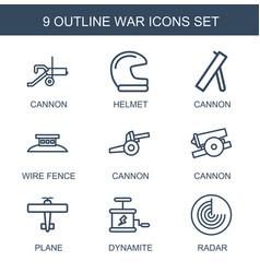 9 war icons vector