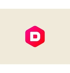 Abstract letter D logo design template Colorful vector