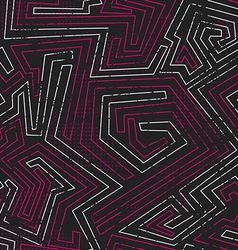 Abstract pink tribal seamless pattern with grunge vector
