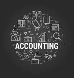 Accounting service - round concept vector