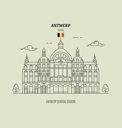 Antwerp central station vector