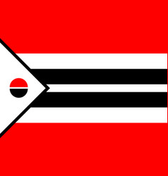 arapaho flag in real proportions and colors vector image