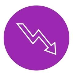 Arrow downward line icon vector