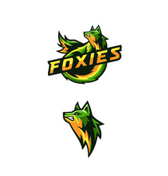 Awesome foxies logo for squad gaming vector