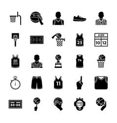 Basketball glyph icons vector