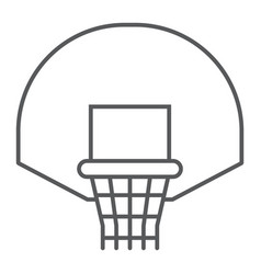 basketball hoop thin line icon game and sport vector image
