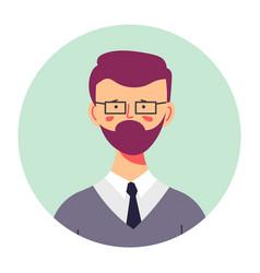 Bearded teenage boy portrait profile male vector