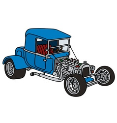 Blue hot rod vector image