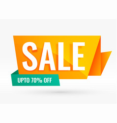 bright creative origami style sale banner vector image