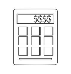 Calculator with dollar sign vector