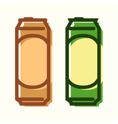 can of beer set of icons vector image