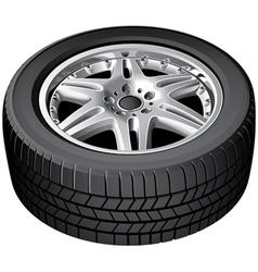 Car wheel isolated vector