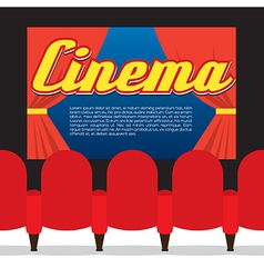 Cinema Seats In Front Of Screen vector
