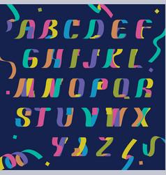 color ribbon characters vector image
