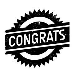 Congrats rubber stamp vector