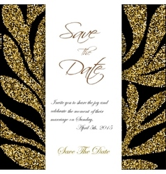 cute cards with gold confetti glitter perfect vector image