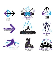 Design elements extreme winter sports vector
