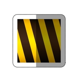 Dotted sticker traffic barrier icon vector
