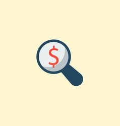 financial research icon flat element vector image