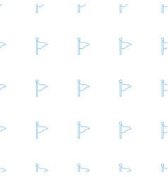 flag icon pattern seamless white background vector image