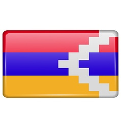 Flags Karabakh Republic in the form of a magnet on vector