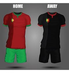 Football soccer jersey vector image