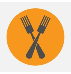 Forks icon vector