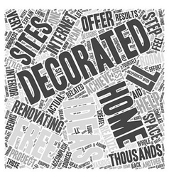 Free Home Decorating Ideas Word Cloud Concept vector image