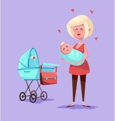 Funny mother character Isolated vector