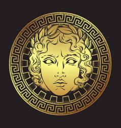 Greek and roman god apollo helios vector