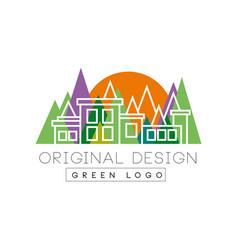 Green logo original design logo template colorful vector
