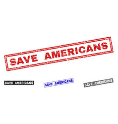 grunge save americans textured rectangle vector image