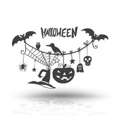 Halloween objects for halloween vector