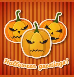Happy halloween greeting template vector