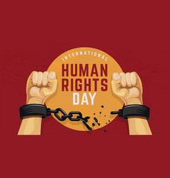 Human rights day poster vector