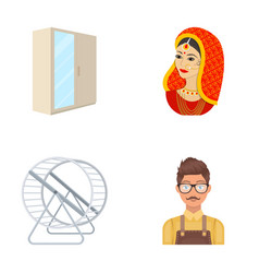 india travel tourism and other web icon in vector image