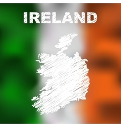 Irish Abstract Map vector