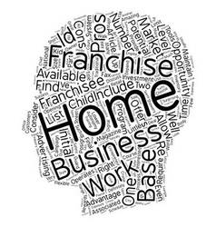 Is A Work From Home Franchise Business Right For vector