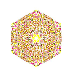 Isolated abstract geometrical colorful floral vector