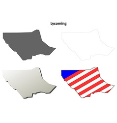 Lycoming Map Icon Set vector