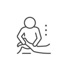 Massage procedure line outline icon vector