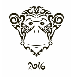 monkey - symbol new year vector image