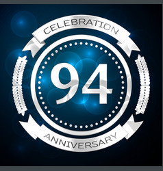 Ninety four years anniversary celebration with vector