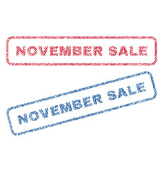 november sale textile stamps vector image